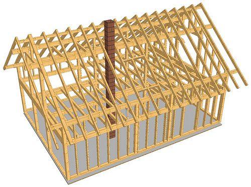 Einfamilienhaus / EFH in Holzrahmenbau mit sch�nen Dach�berst�den und sichtbarer Holzbalkendecke - Zimmerei-Walther, Pirna