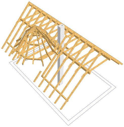 EFH mit Turmdach in drei verschiedenen Dachneigungen - Zimmerei-Walther, Pirna - Dresden