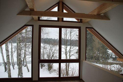 Glasgiebel im Holzrahmenbau - Zimmerei Walther Dresden / Pirna
