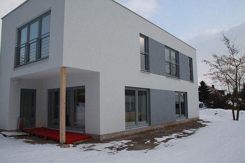 Holzrahmenbau EFH mit Terrassenlösung - Zimmerei Walther Dresden / Pirna
