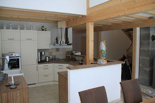 K�chenbereich in Wochenendhaus als Holzrahmenbau - Zimmerei Walther Dresden / Pirna