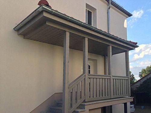 zimmerei walther vom vordach bis zum eingangsbereich pirna dresden sachsen balkonkonstruktionen. Black Bedroom Furniture Sets. Home Design Ideas