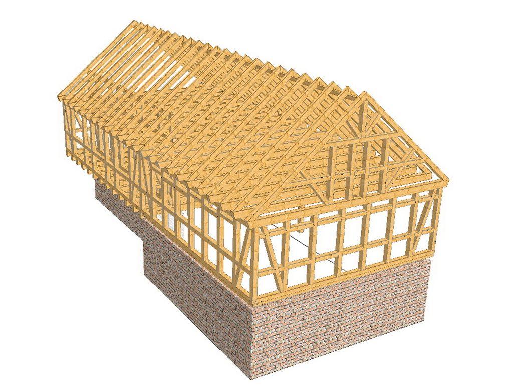 Zimmerei walther pirna dresden sachsen dachst hle als for Holzfachwerk verbindungen
